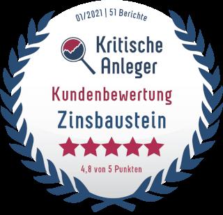 Kundenbewertungen zu zinsbaustein.de