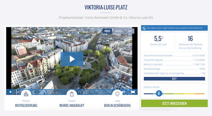 Exporo-Projekt Viktoria-Luise-Platz in Berlin (Stand:Mai 2016)
