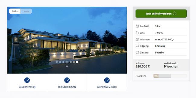 Immofunding-Projekt Terrassenwohnungen in Graz (Stand: Juni 2016)