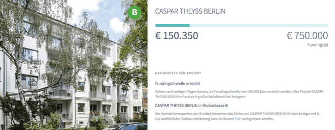 Bestandsimmobilie Caspar Theyss in Berlin (iFunded)