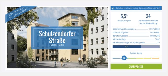 Bestandsimmobilie in Berlin (Exporo)
