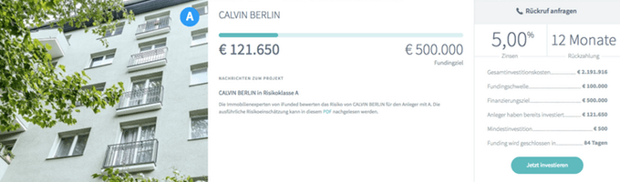 Bestandsimmobilie in Berlin (iFunded)