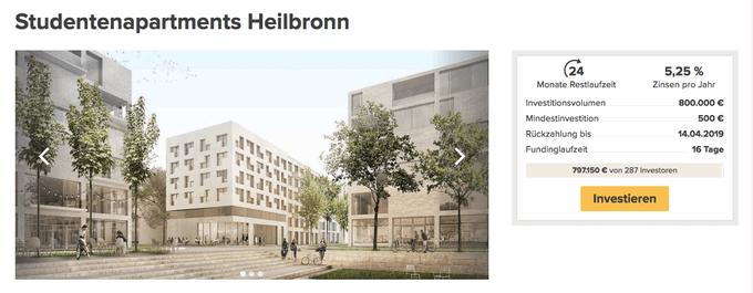 Studentenapartments Heilbronn (Zinsbaustein)