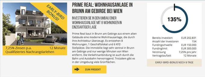 Wohnhausanlage in Brunn von Prime Real (dagobertinvest)
