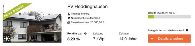 Photovoltaik Heddinghausen (greenXmoney)