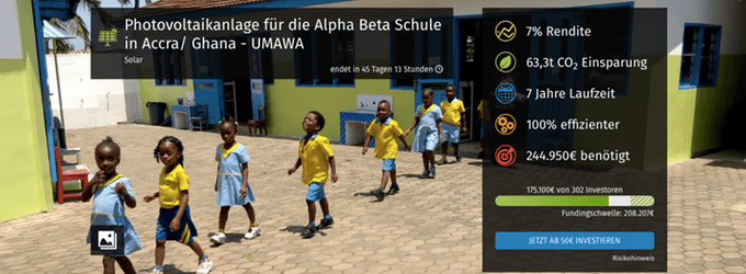 Photovoltaikanlage für die Alpha Beta Schule in Accra, Ghana (bettervest)