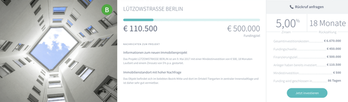 Lützowstrasse Berlin (iFunded)