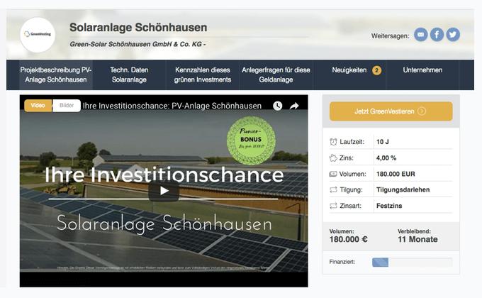 Solaranlage Schönhausen (GreenVesting)