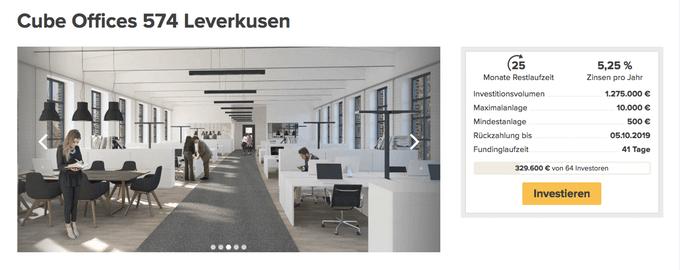 Cube Offices 574 Leverkusen (Zinsbaustein)