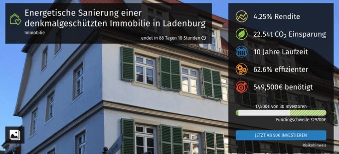 Energetische Sanierung einer denkmalgeschützten Immobilie in Ladenburg (bettervest)