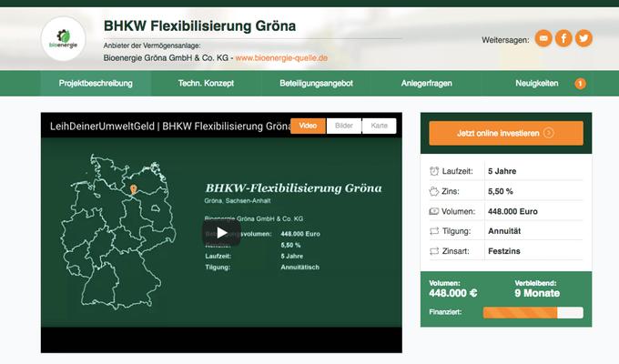 BHKW Flexibilisierung Gröna (LeihDeinerUmweltGeld)
