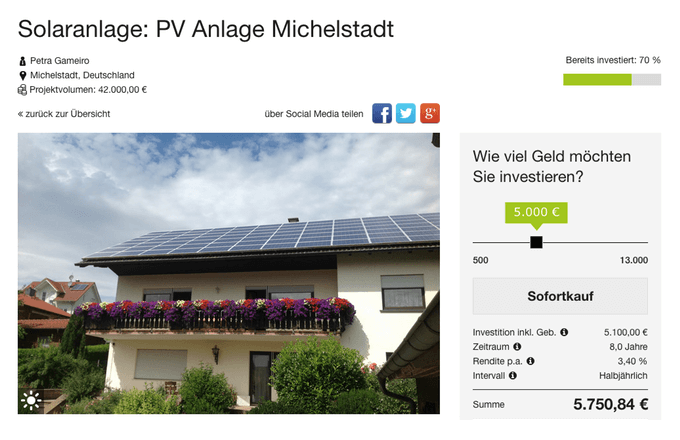 PV Anlage Michelstadt (greenXmoney)