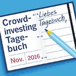 Crowdfunding-Tagebuch mit Echtgeld-Test - November2016