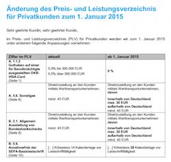Neue AGBs der DKB mit Gültigkeit ab 01.01.2015