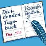 Die Dezemberausgabe unseres Dividenden-Tagebuchs