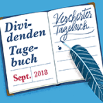 Unser Dividenden-Tagebuch: Ausgabe September 2018